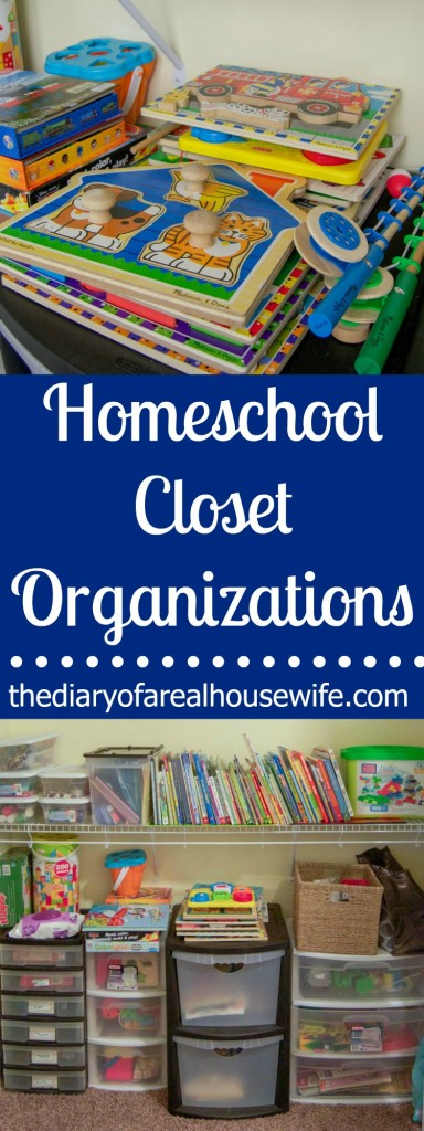 My Homeschool Closet Organizations