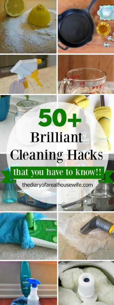 Over 50 Brilliant Cleaning Hacks that you have to know... right now!!