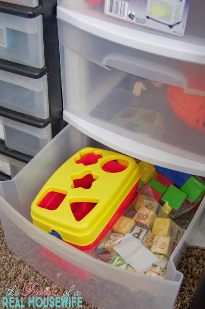 Preschool toys in Homeschool Closet Organizations