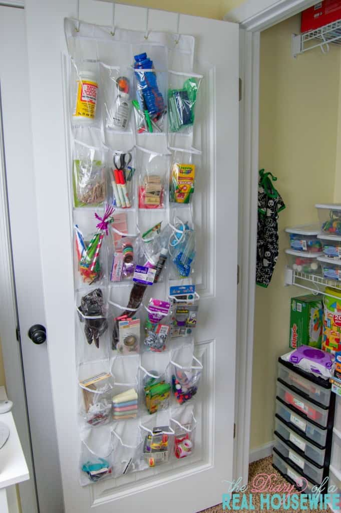 The closet door. Homeschool Closet Organizations