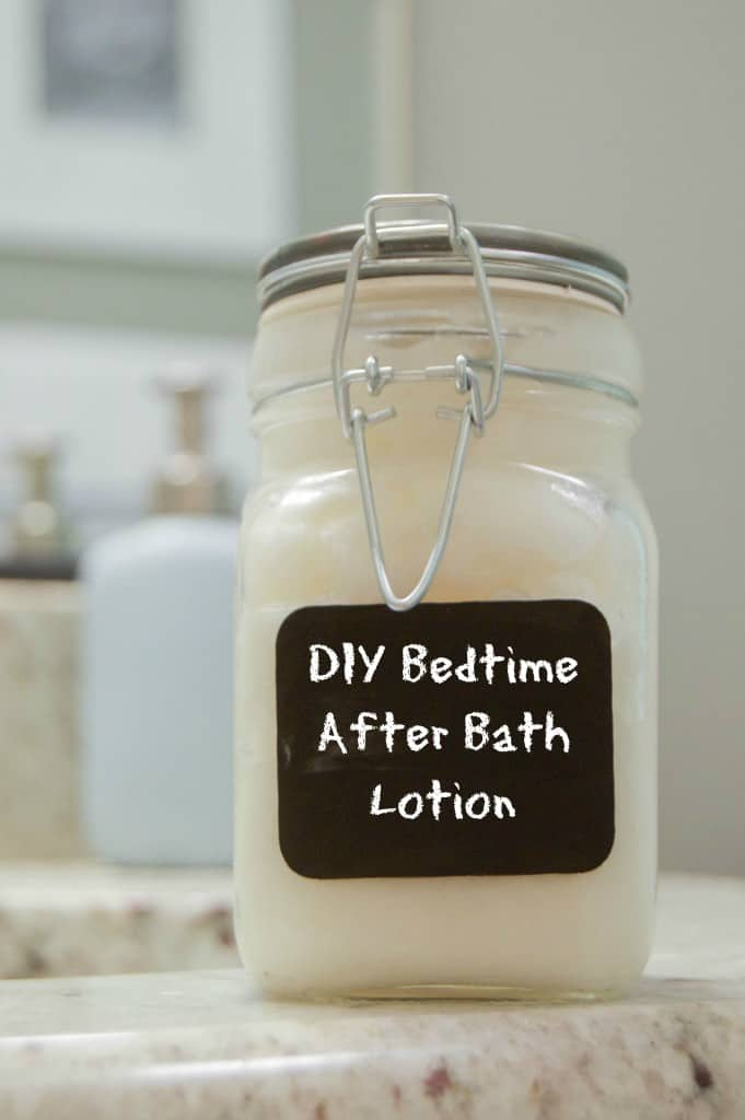 easy to make DIY Bedtime After Bath Lotion