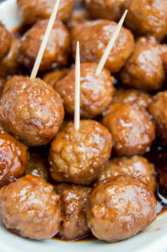 3 Ingredients Meatballs served with toothpicks