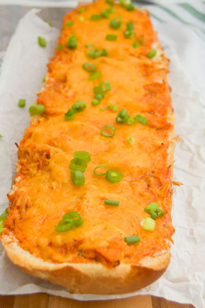 Buffalo Chicken French Bread Pizza