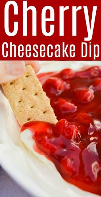 Easy Cherry Cheesecake Dip