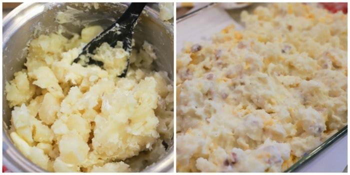 Loaded Baked Potato Casserole in a pot