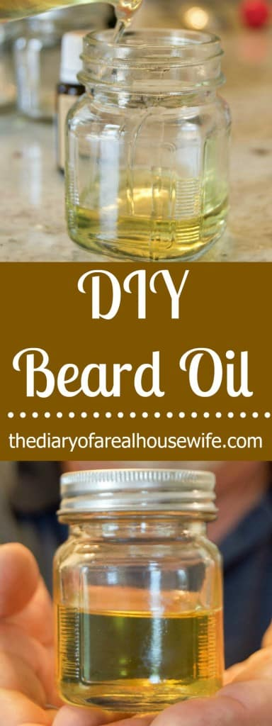 Easy DIY Beard Oil. Makes the perfect gift!