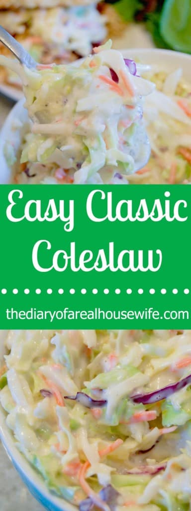 Super easy Classic Coleslaw recipe.