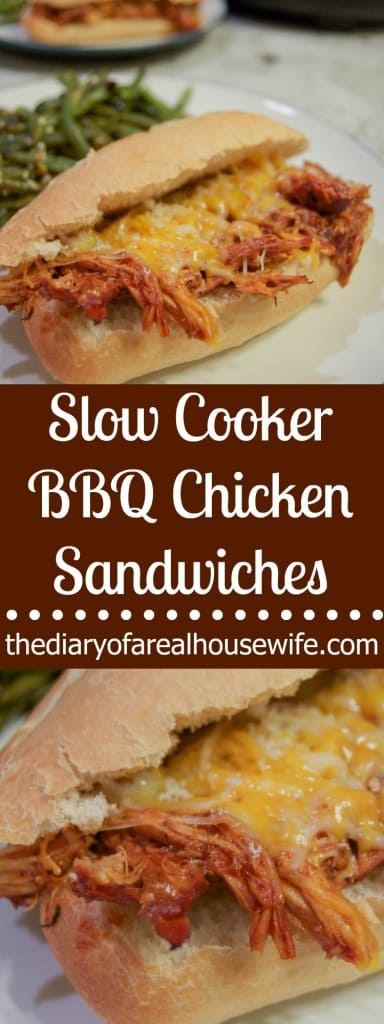 The Best Slow Cooker BBQ Chicken Sandwiches! I love this simple recipe.