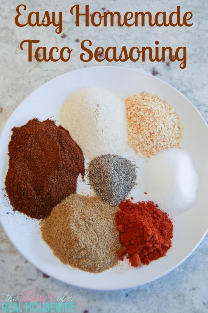 Easy Homemade Taco Seasoning. I make a big batch to keep in the pantry and will NEVER do store bought again.