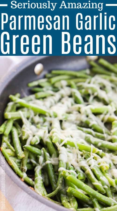 Easy Parmesan Garlic Skillet Green Beans