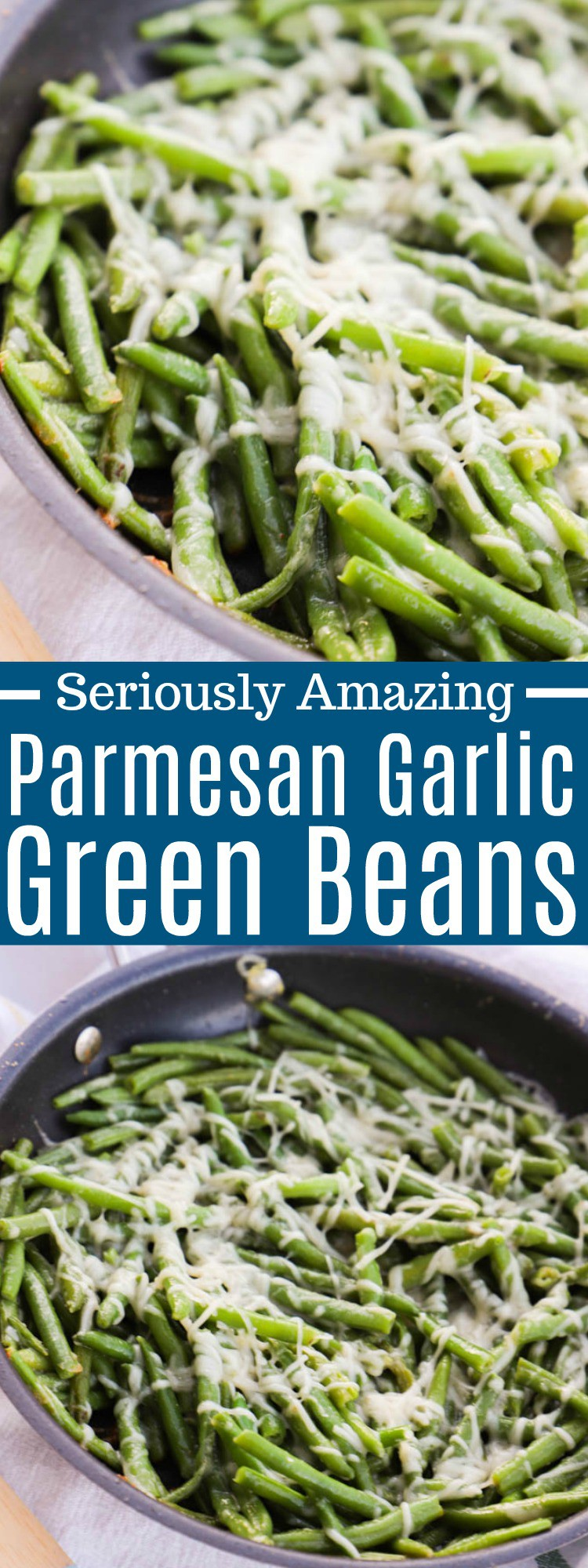 Parmesan Garlic Skillet Green Beans