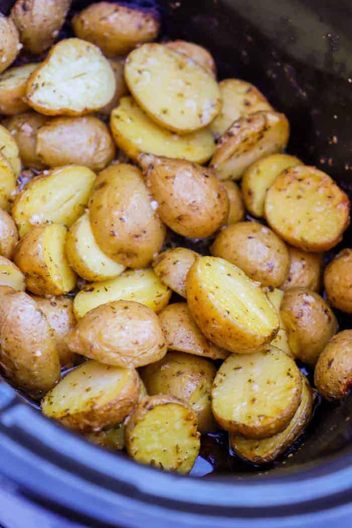 Slow Cooker Parmesan Garlic Potatoes