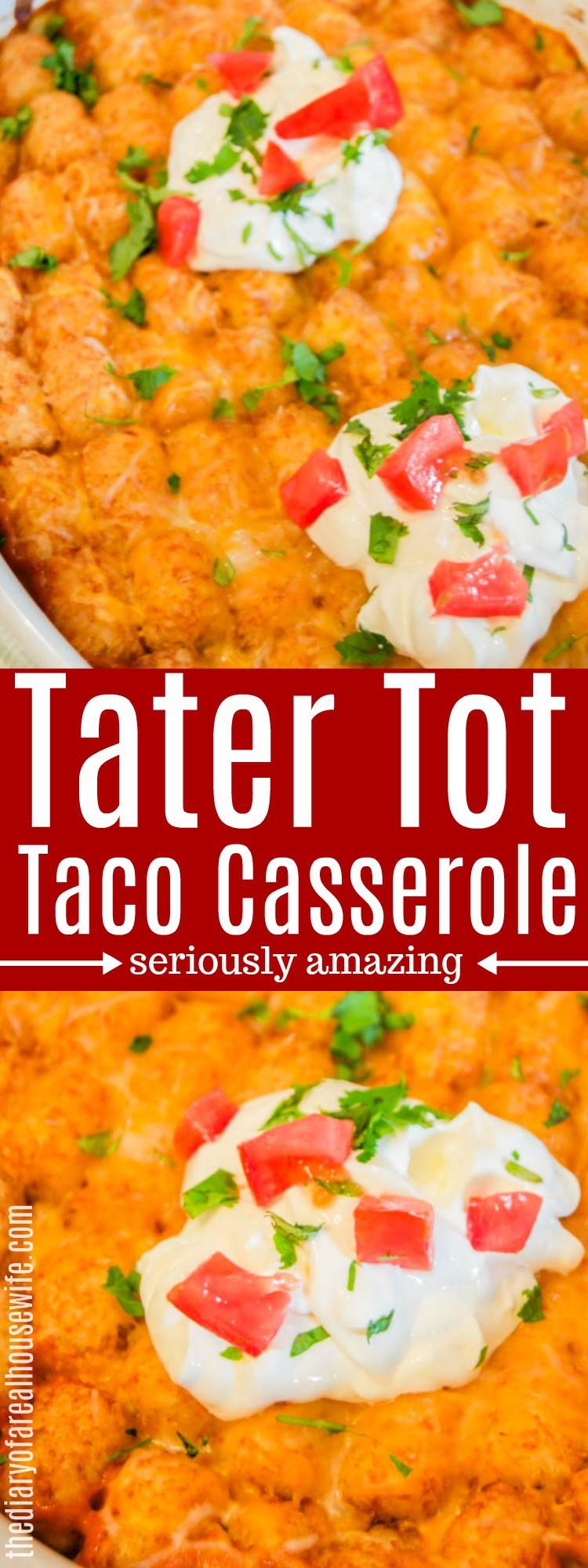 Tater Tot Taco Casserole