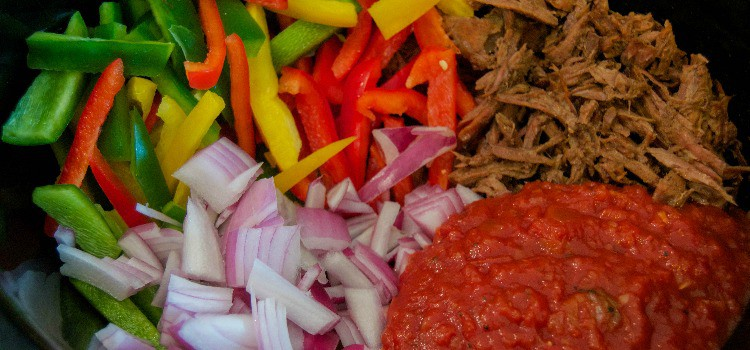 4 Ingredient Slow Cooker Steak Fajita