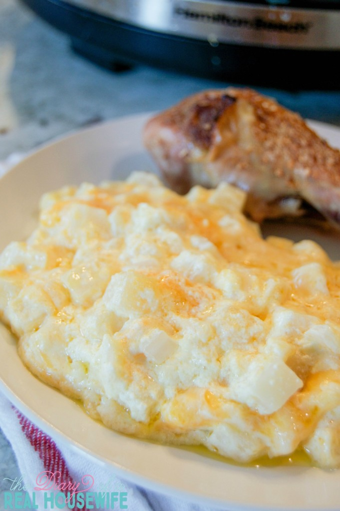 My favorite side dish Slow Cooker Cheesy Potato Casserole