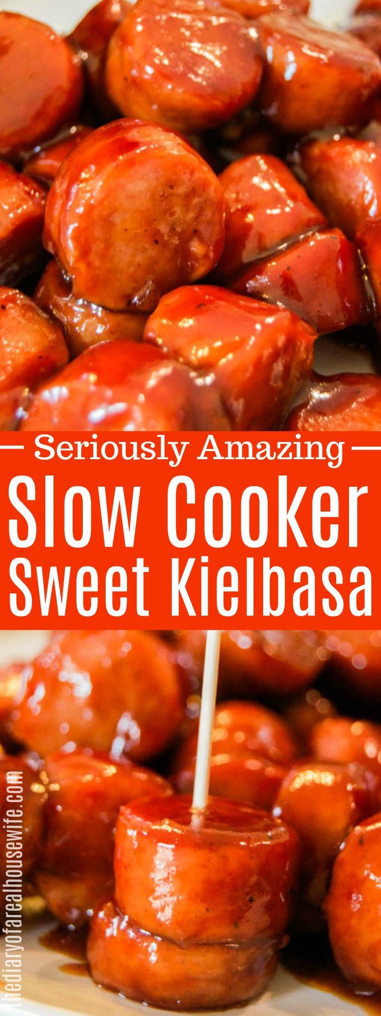 Slow Cooker Sweet Kielbasa