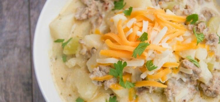 Cheesy Sausage Potato Soup
