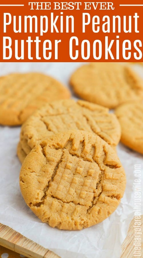 Pumpkin Peanut Butter Cookies