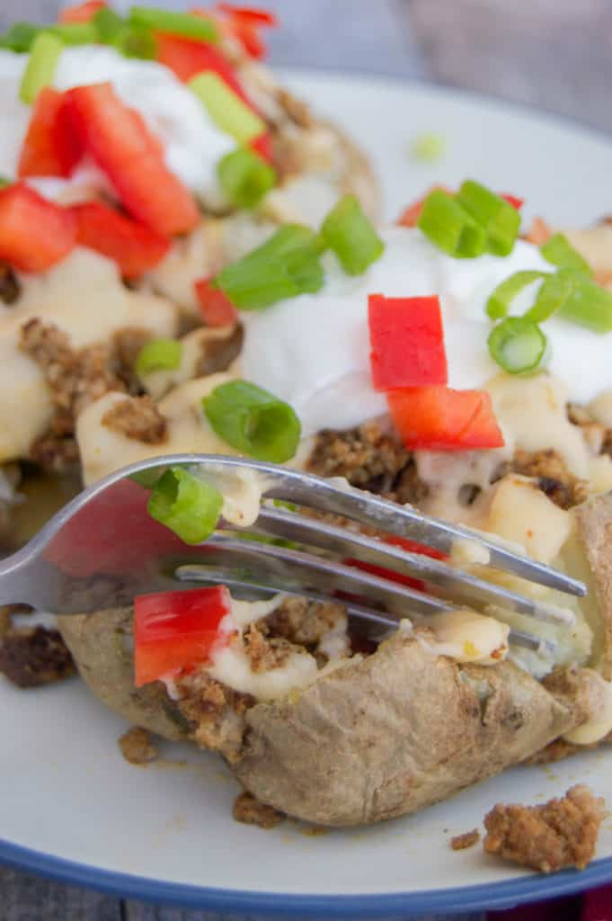 Taco Stuffed Baked Potatoes