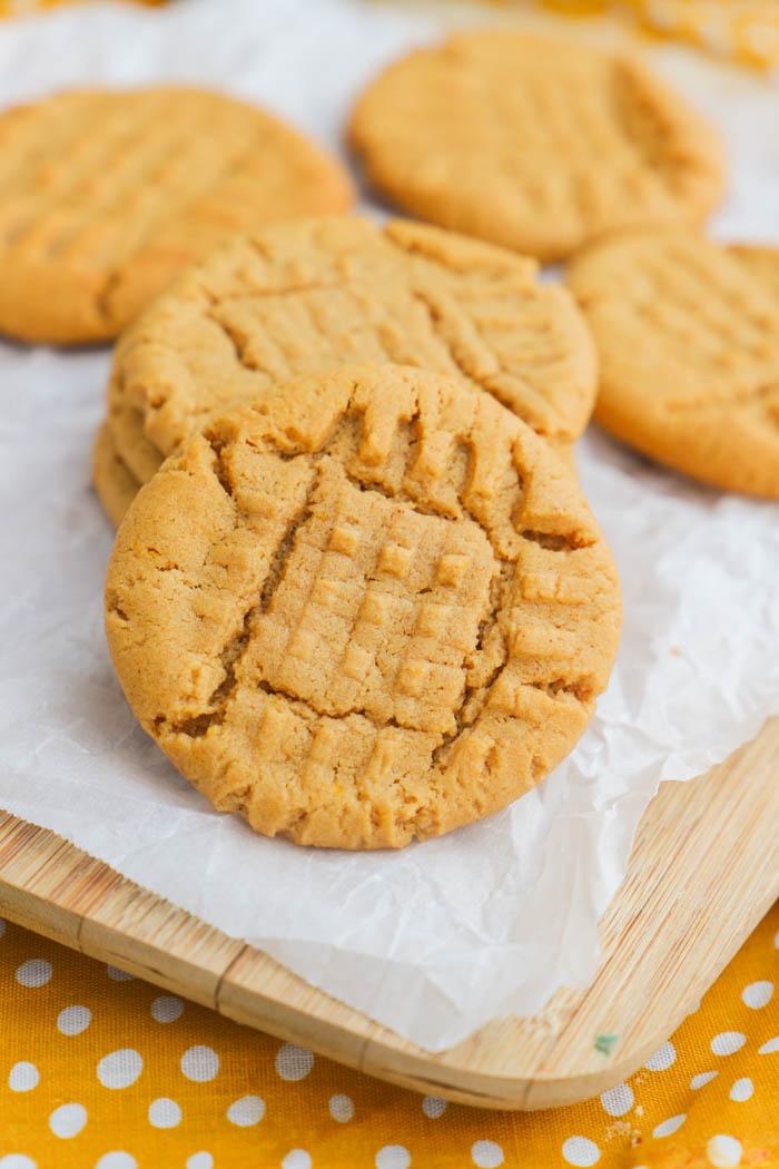 Pumpkin Peanut Butter Cookies on a cutting board