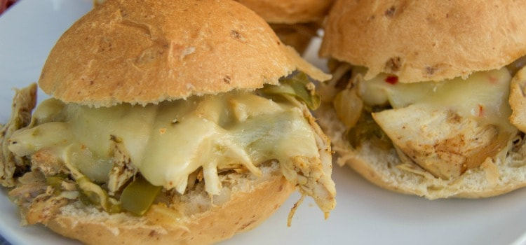 Slow Cooker Chicken Fajita Sliders