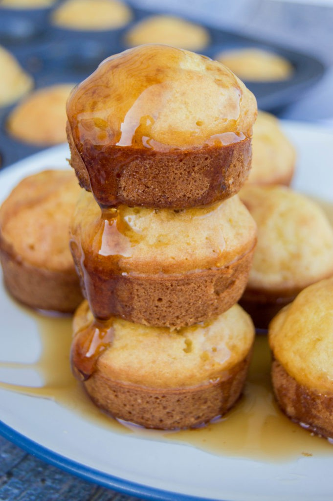 Pancake Mini Muffins with maple syrup