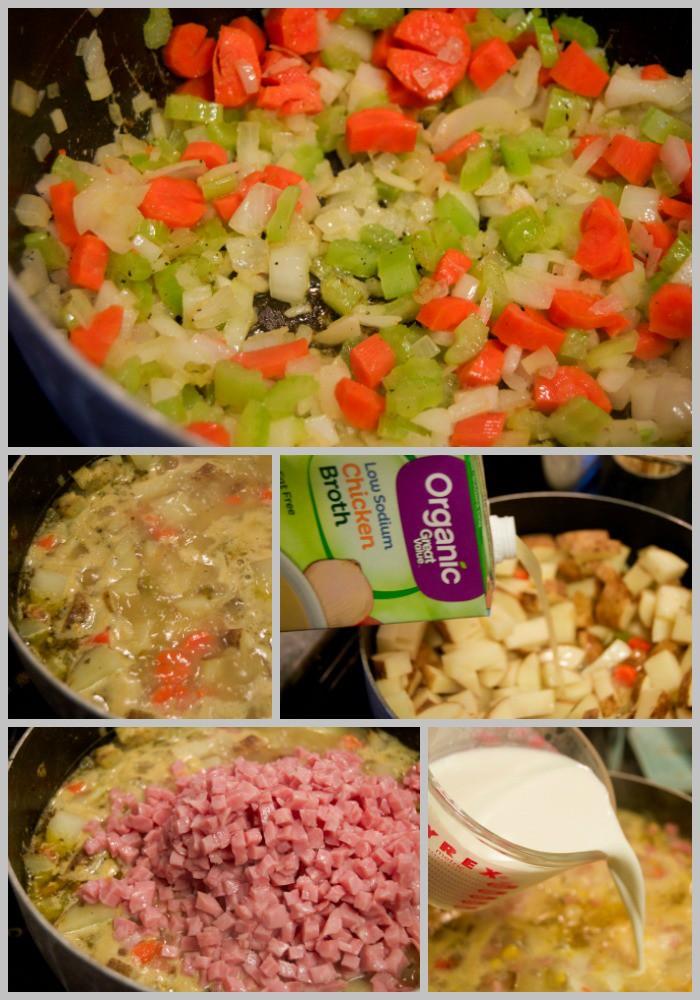 cheesy-ham-and-potato-soup-collage