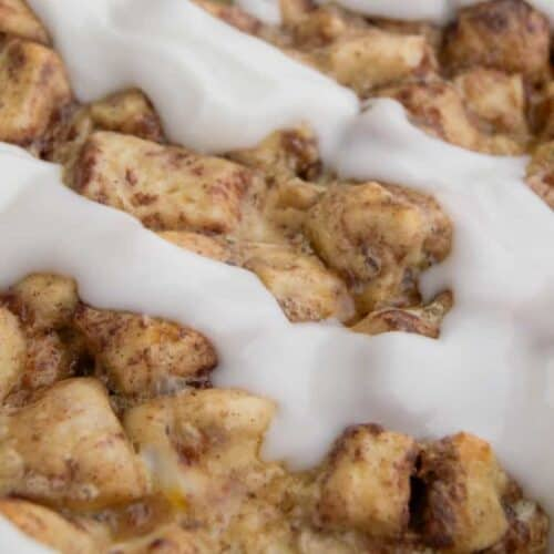 My family just loved this Cinnamon Roll Breakfast Casserole! It's one of my favorite breakfast recipes. It's super easy to make and can even be made the night before.