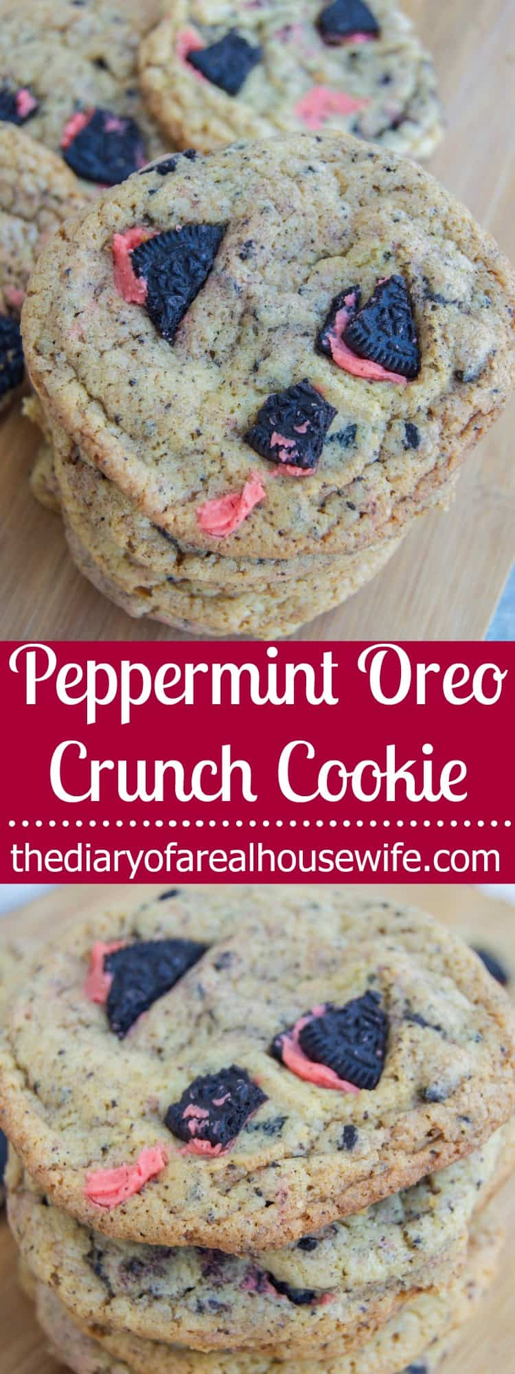 Peppermint Oreo Crunch Cookie