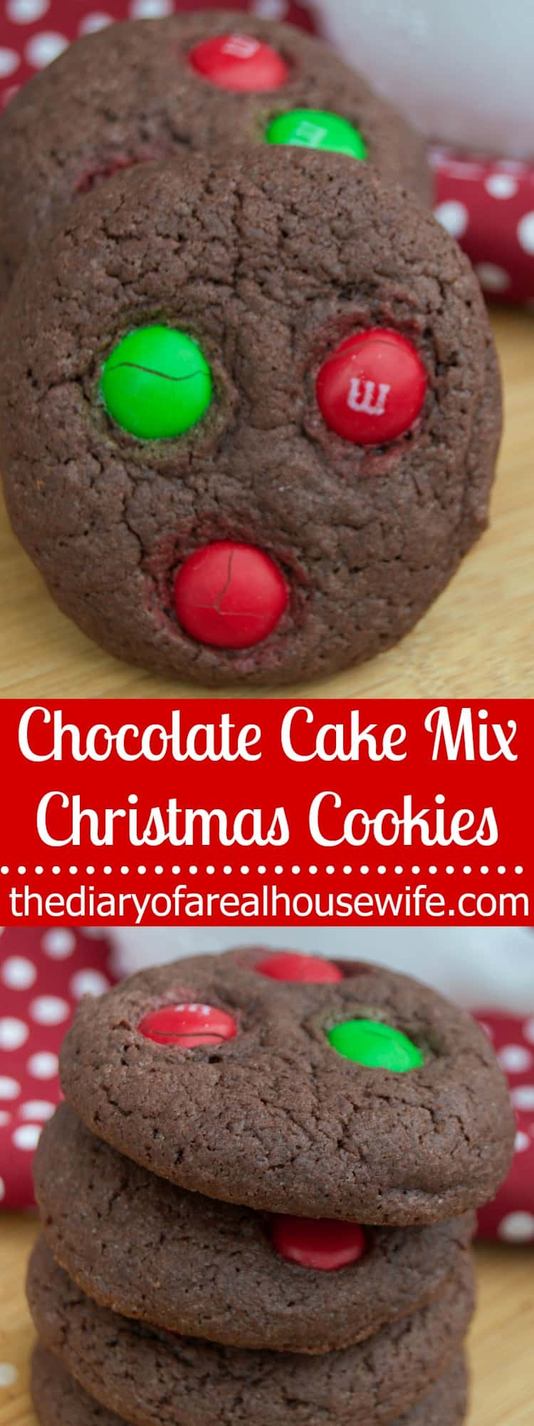 Chocolate Cake Mix Christmas Cookies
