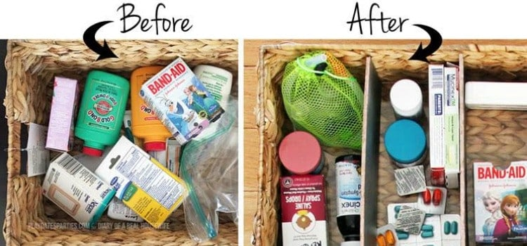 Custom Organization for Woven Storage Baskets