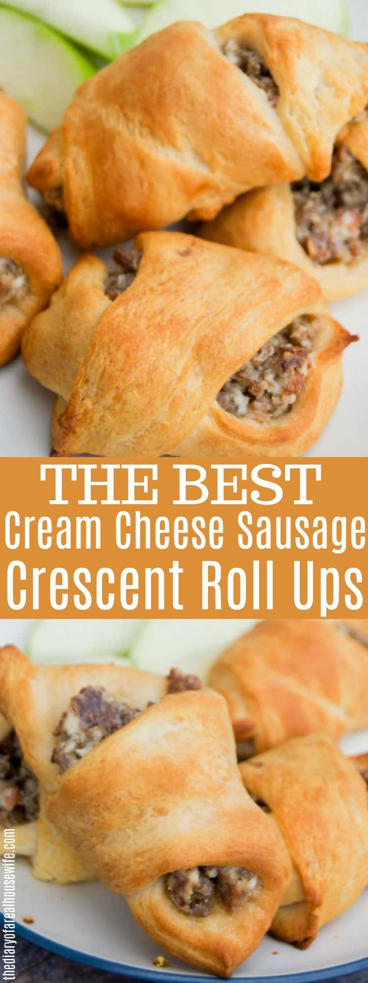 Cream Cheese Sausage Crescent Roll Ups