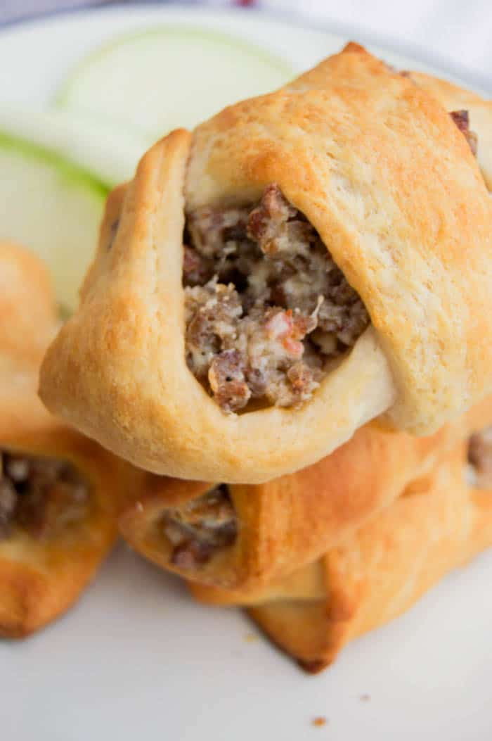 Cream Cheese Sausage Crescent Roll Ups 1