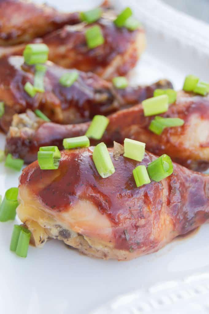 Slow Cooker BBQ Ranch Chicken Legs