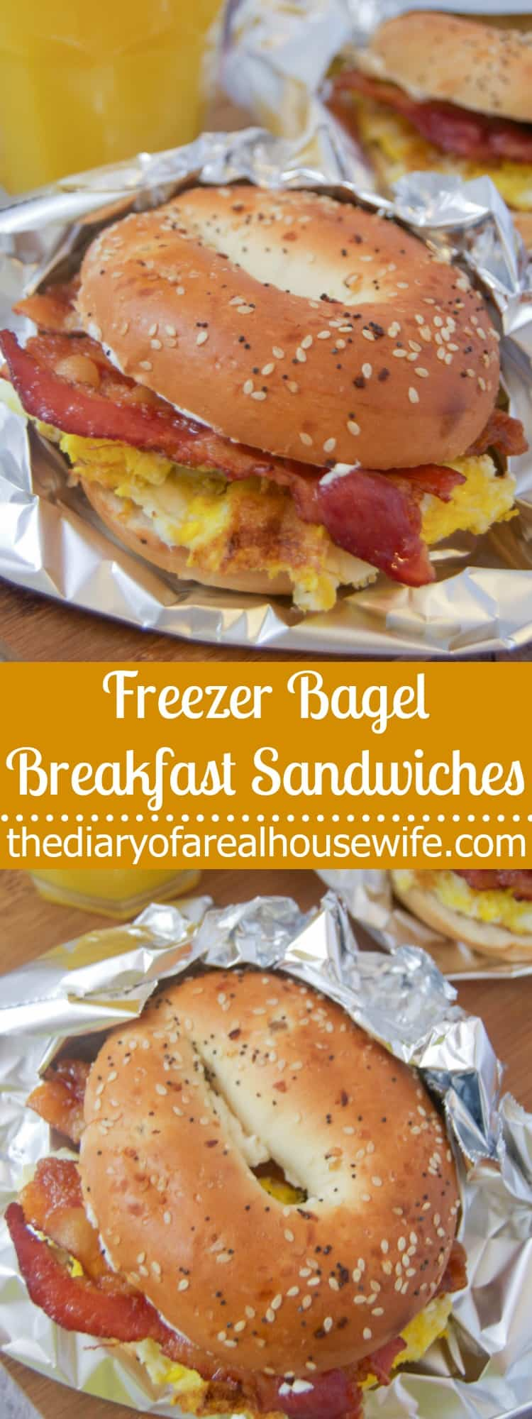 Freezer Bagel Breakfast Sandwiches • The Diary of a Real ...