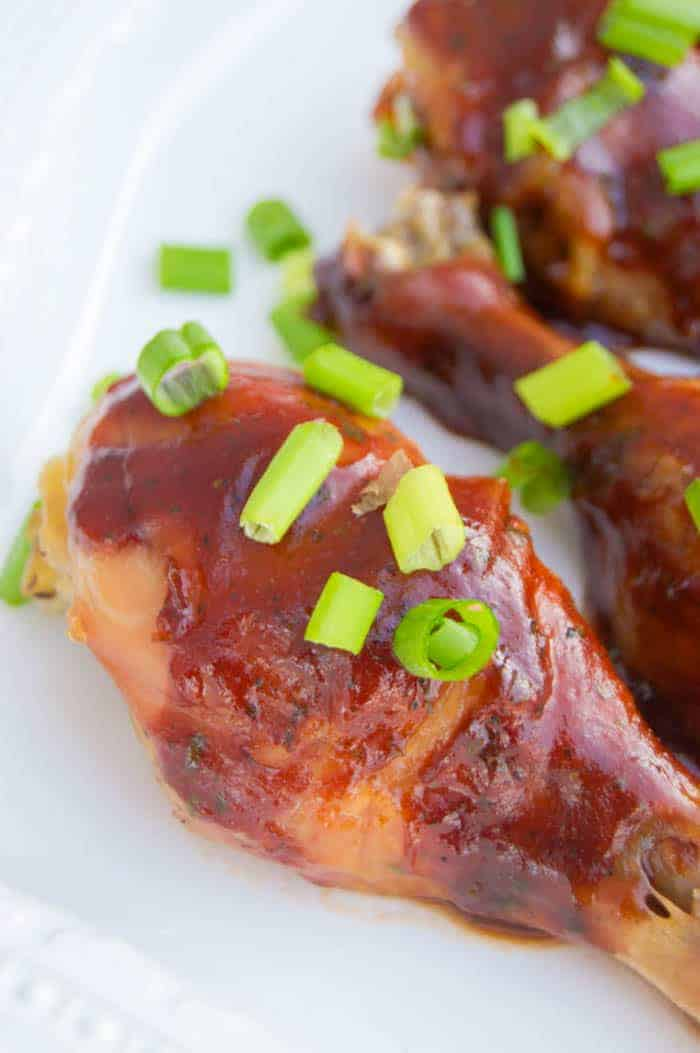 Slow Cooker BBQ Ranch Chicken Legs