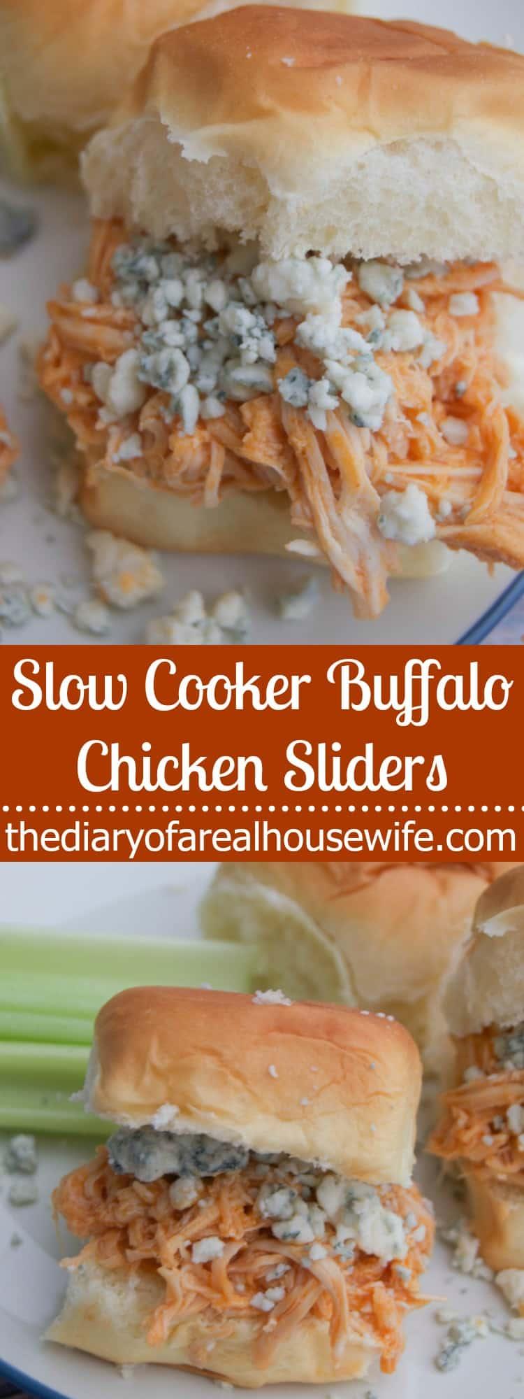 Slow Cooker Buffalo Chicken Sliders