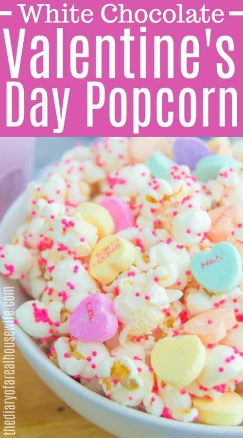 White Chocolate Valentine's Day Popcorn