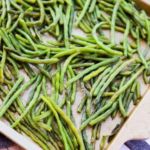 Baked Garlic Green Beans