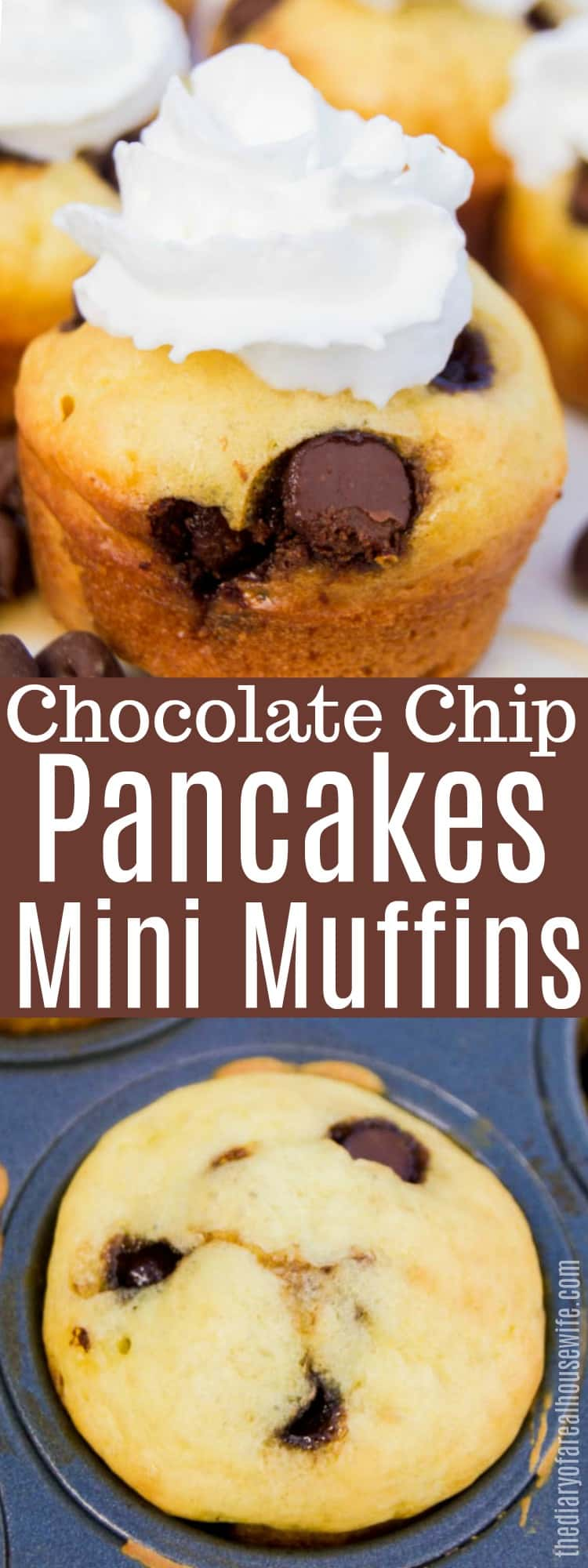 Chocolate Chip Pancakes Mini Muffins