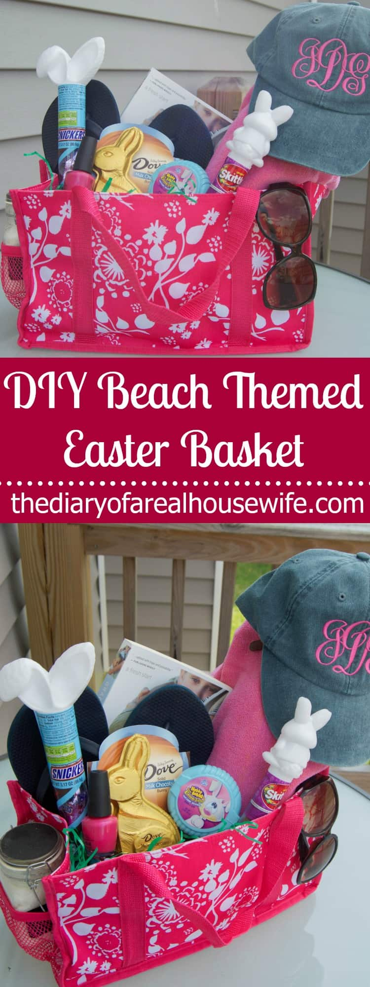 Beach themed easter basket the diary of a real housewife for What day does easter fall on this year