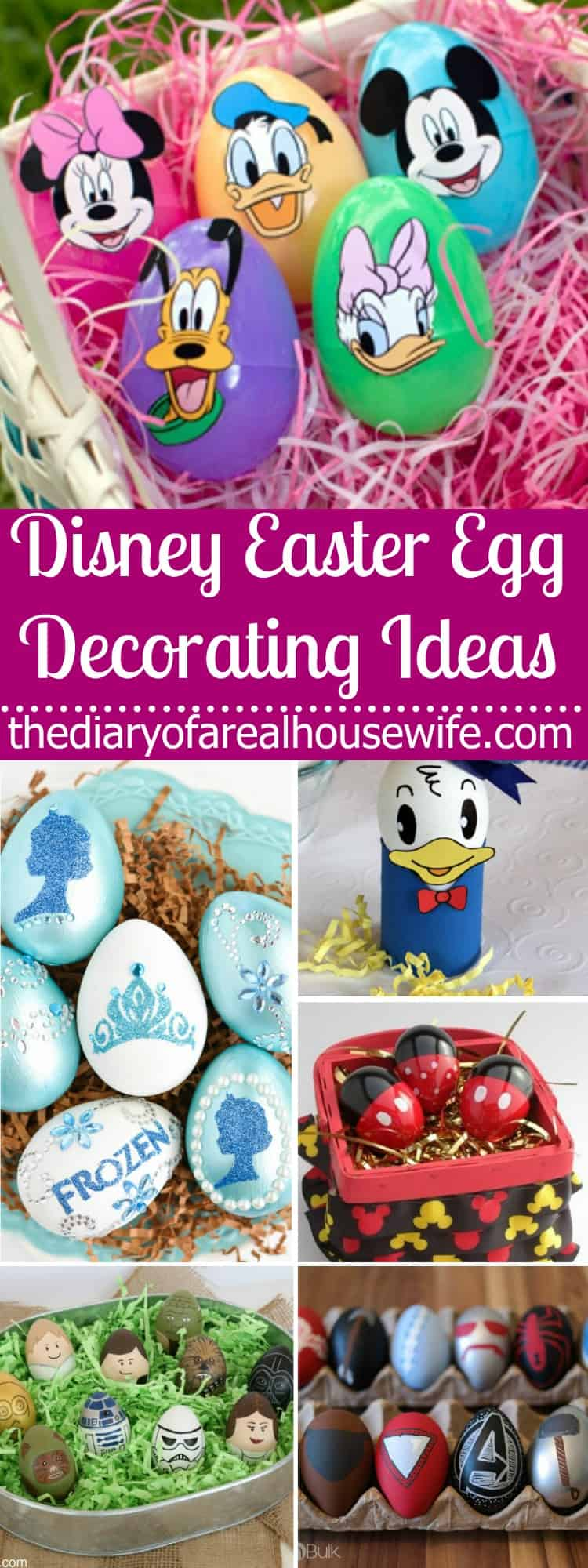 Disney easter egg decorating ideas the diary of a real for What day does easter fall on this year