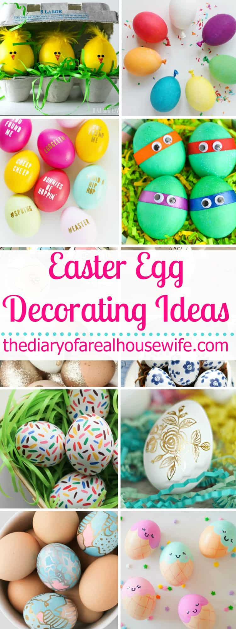 Easter egg decorating ideas the diary of a real housewife for Easter egg ideas