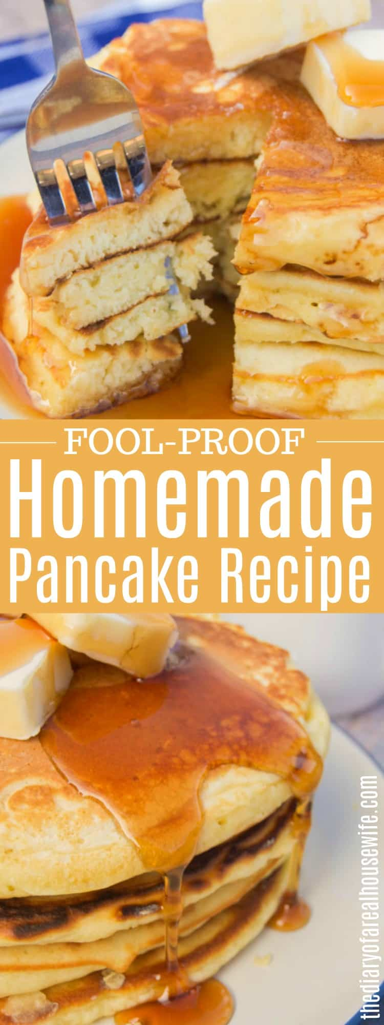 A recipe for delicious pancakes for a real housewife