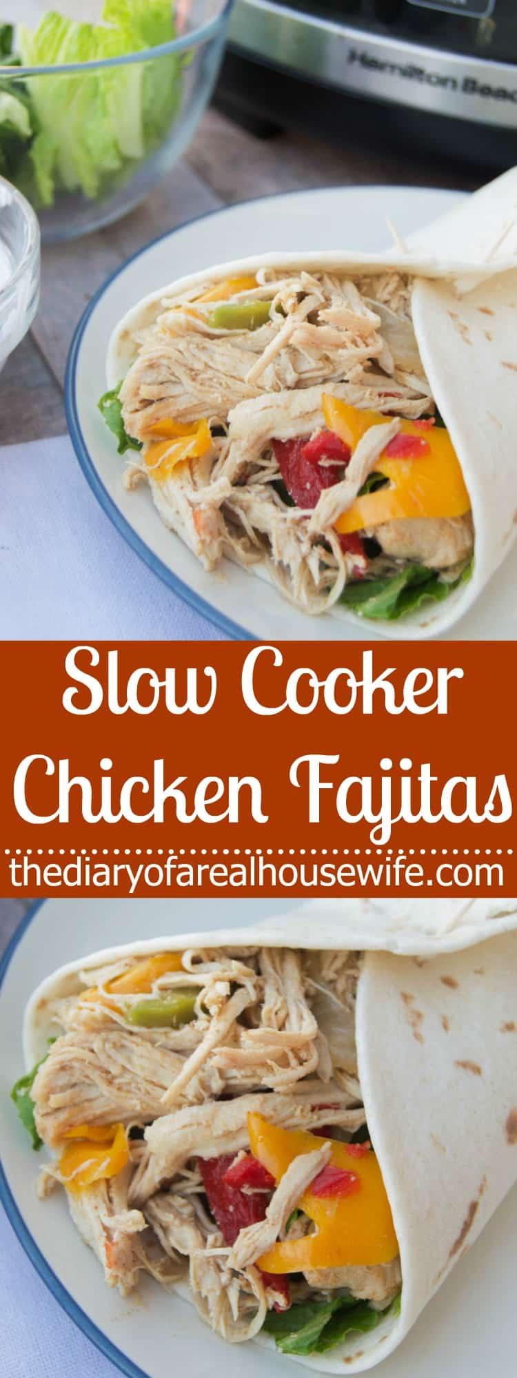 Slow Cooker Chicken Fajitas