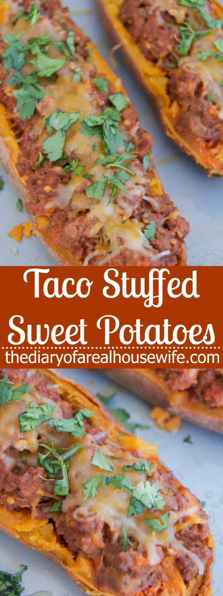 Taco Stuffed Sweet Potatoes - The Diary of a Real Housewife