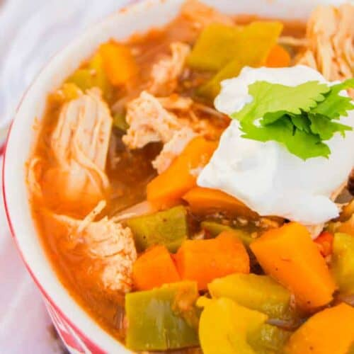 Slow Cooker Chicken Fajita Soup