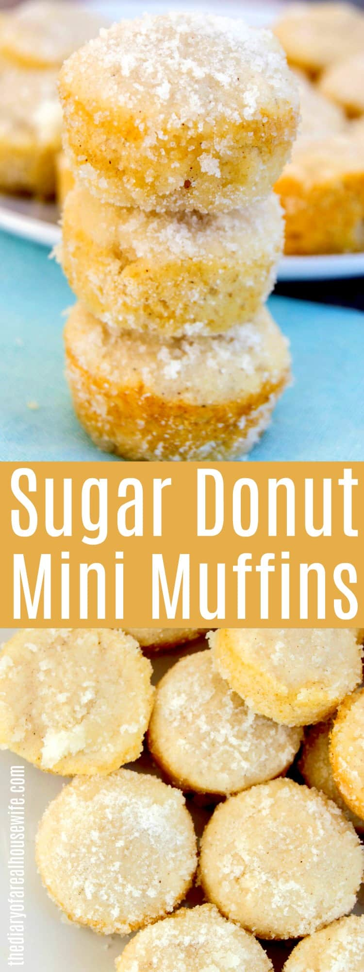 Sugar Donut Mini Muffins