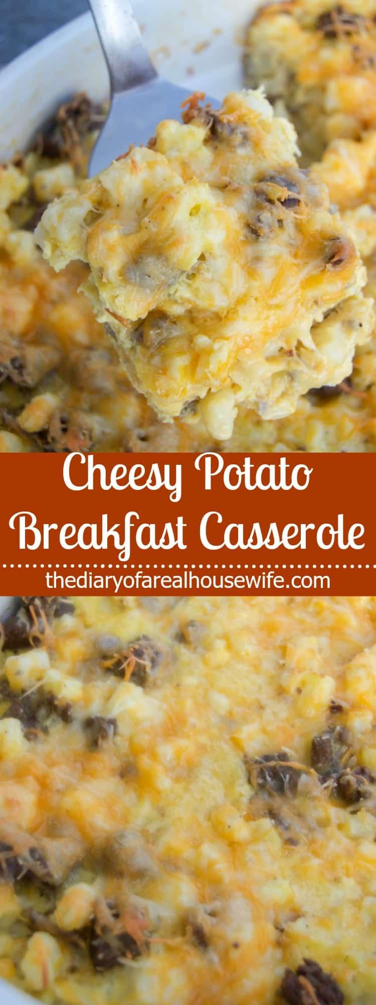 Cheesy Potato Breakfast Casserole - The Diary of a Real ...