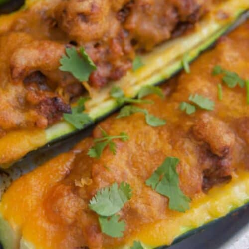 Beef and Cheese Zucchini Boats